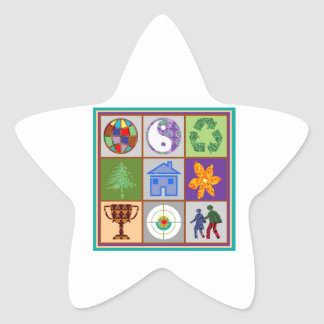 Artistic Symbol Shapes TEMPLATE Reseller Welcome Star Sticker
