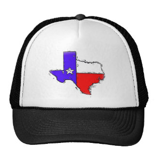 Artistic Texas state flag Mesh Hats