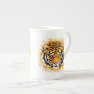 Artistic Tiger Face Tea Cup