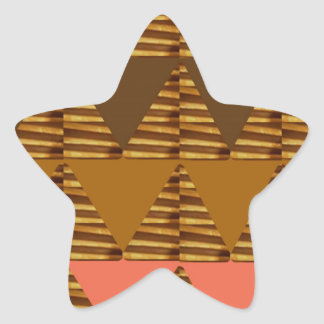 ARTISTIC Triangle ART: Colorful Fabric Look Patter Star Sticker