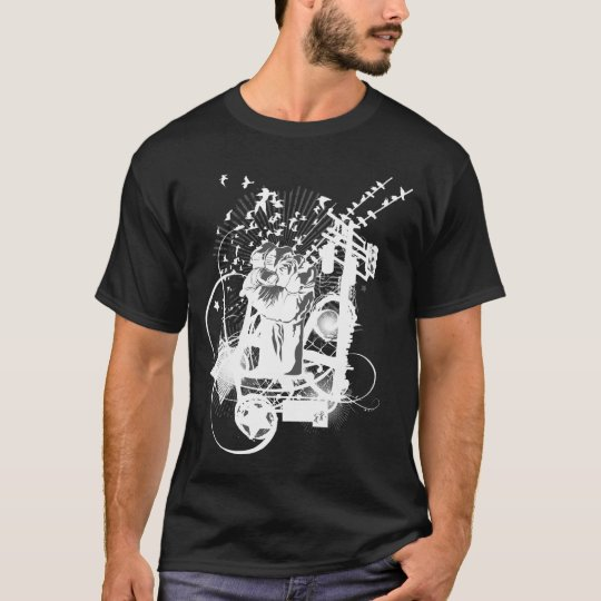 Artistic Urban Style Fist Artistic Illustration T-Shirt