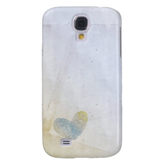Artistic washed out heart text design galaxy s4 case