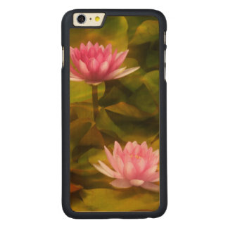 Artistic water lilies, California Carved Maple iPhone 6 Plus Case