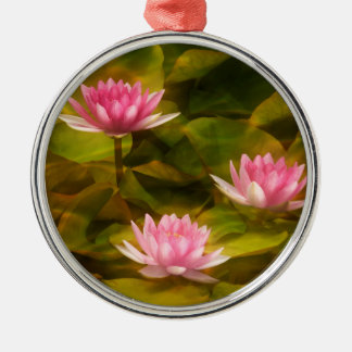 Artistic water lilies, California Christmas Ornament