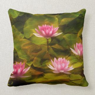 Artistic water lilies, California Cushion