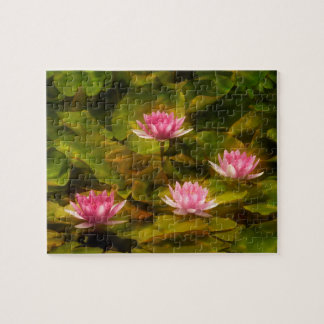 Artistic water lilies, California Jigsaw Puzzle