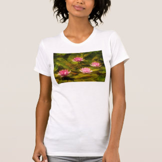 Artistic water lilies, California T-Shirt