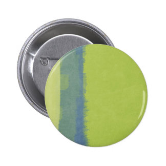 Artistic Watercolor Wash: Spring Green  Blue Bar 6 Cm Round Badge