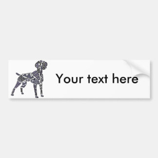 Artistic Weimaraner Dog Art Bumper Sticker