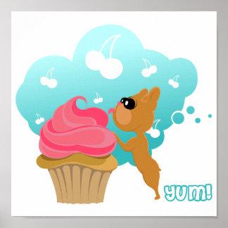 Artistic & Whimsical French Bulldog Dog breed Art Poster
