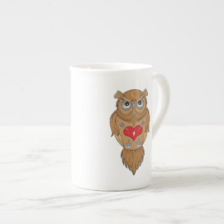 Artistic Wise Owl Tea Cup