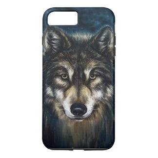 Artistic Wolf Face Tough iPhone 7 Plus Case