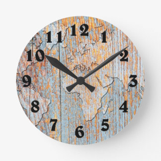 Artistic wooden world map numbered clock