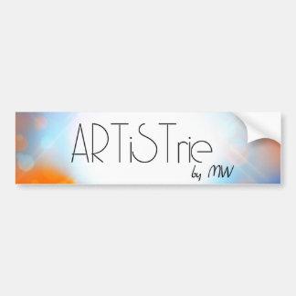 ARTiSTrie by MW LogoSticker Bumper Sticker