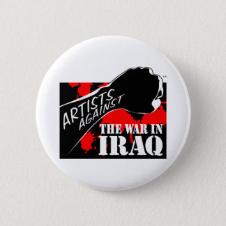 Artists Against the War in Iraq 6 Cm Round Badge