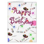 Artists birthday card
