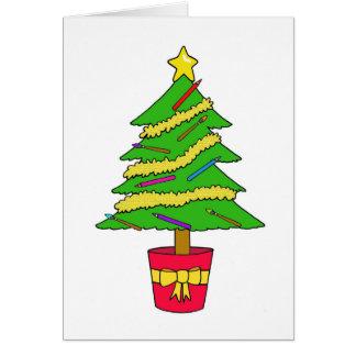 Artist's Christmas tree Card