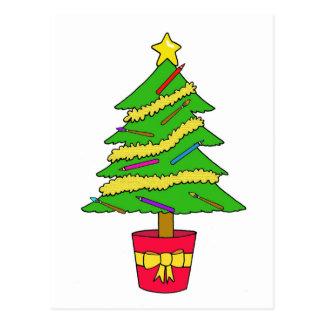 Artist's Christmas tree Postcard