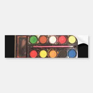 Artist's colorful paint color box bumper sticker