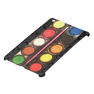 Artist's colorful paint color box cover for the iPad mini