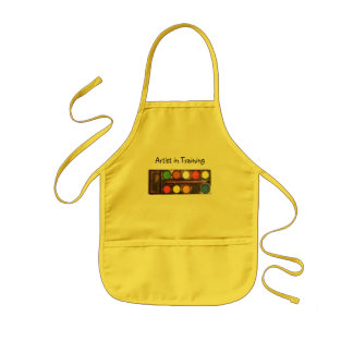 Artist's colorful paint color box kids apron