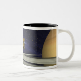 Artists concept of Cassini Two-Tone Coffee Mug