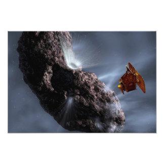 Artist's concept of Deep Impact's Encounter Photograph