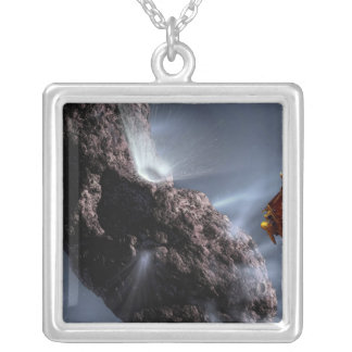 Artist's concept of Deep Impact's Encounter Silver Plated Necklace