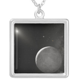Artist's concept of Kuiper Belt object Silver Plated Necklace