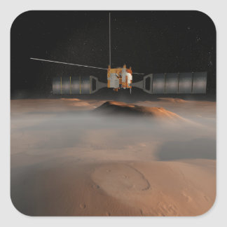 Artist's concept of Mars Express spacecraft Square Sticker