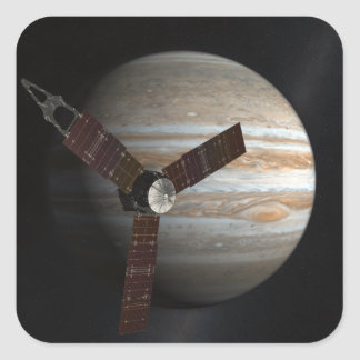 Artist's concept of the Juno spacecraft Square Sticker