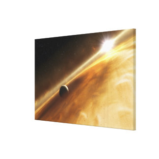 Artist's concept of the star Fomalhaut Canvas Print