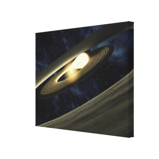 Artist's concept showing a lump of material canvas print