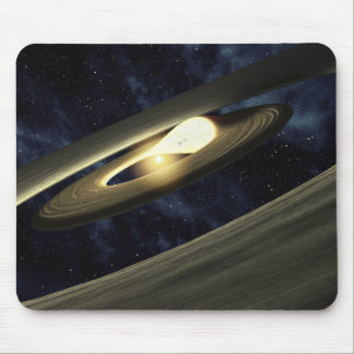 Artist's concept showing a lump of material mouse mat