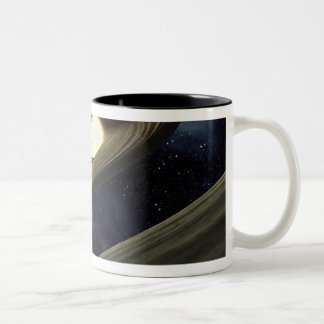 Artist's concept showing a lump of material Two-Tone coffee mug