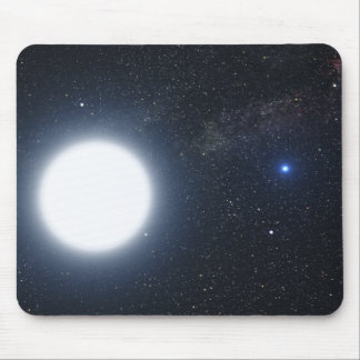 Artist's concept showing the binary star system mouse pad