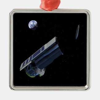 Artists conception of Spitzer Silver-Colored Square Decoration