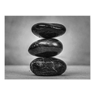 Artists  Display works photo of zen rocks 17 Cm X 22 Cm Invitation Card