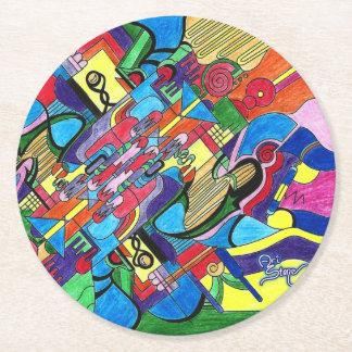 Artist's Dream round coaster Round Paper Coaster