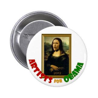 Artists for Obama (Da Vinci ) button