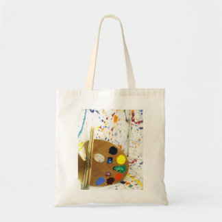 Artists Paint Splatter And Pallet of Paint Budget Tote Bag
