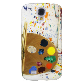 Artists Paint Splatter And Pallet of Paint Samsung Galaxy S4 Cases