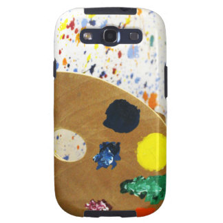 Artists Paint Splatter And Pallet of Paint Samsung Galaxy S3 Cover