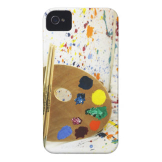Artists Paint Splatter And Pallet of Paint iPhone 4 Case