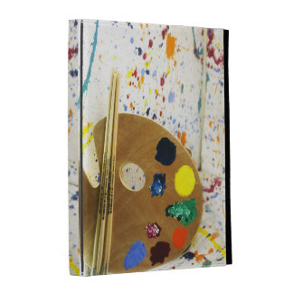 Artists Paint Splatter And Pallet of Paint iPad Folio Cover