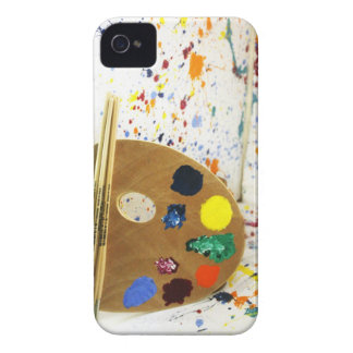 Artists Paint Splatter And Pallet of Paint iPhone 4 Case-Mate Cases