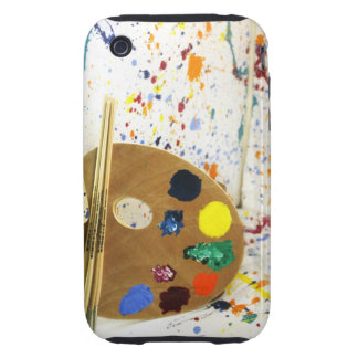 Artists Paint Splatter And Pallet of Paint Tough iPhone 3 Covers