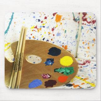 Artists Paint Splatter And Pallet of Paint Mousepad