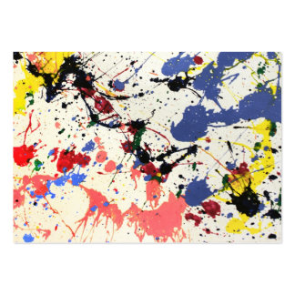 Artists Paint Splatter Background Business Cards