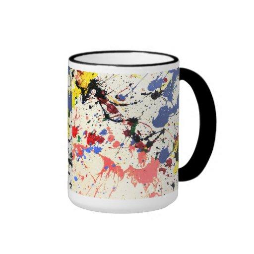 Artists Paint Splatter Background Coffee Mugs